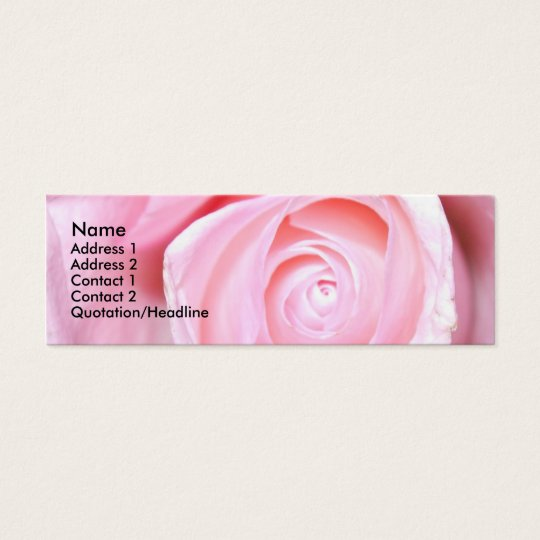 Pink Rose, Mini Business Card