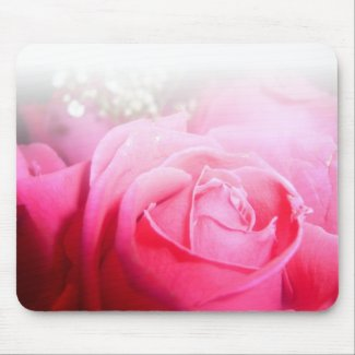Pink Rose Mousepad mousepad