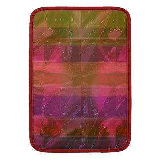 Pink Rose n Honey Bee Sting - Background Pattern MacBook Sleeve