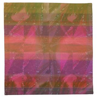 Pink Rose n Honey Bee Sting - Background Pattern Napkin