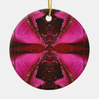 Pink Rose n Honey Bee Sting - Background Pattern Ornament
