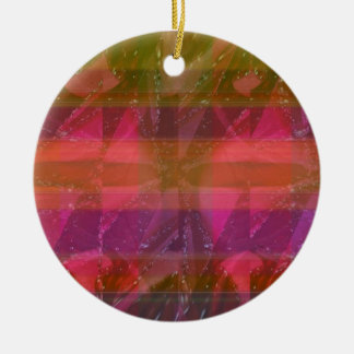 Pink Rose n Honey Bee Sting - Background Pattern Christmas Ornament