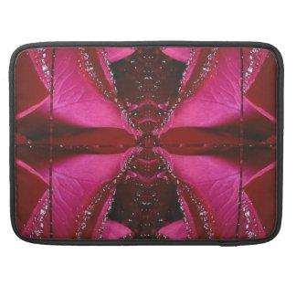 Pink Rose n Honey Bee Sting - Background Pattern Sleeve For MacBooks