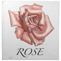 Pink Rose Napkin