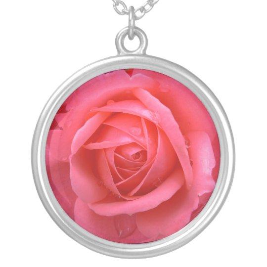 Pink Rose Necklace Red Rose Gifts Keepsake