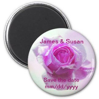 Pink Rose of love Refrigerator Magnets