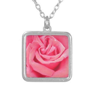 Pink Rose of Love Personalized Necklace
