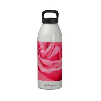 Pink Rose of Love Water Bottles