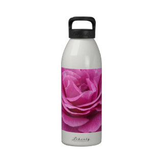 Pink Rose of Love Reusable Water Bottles