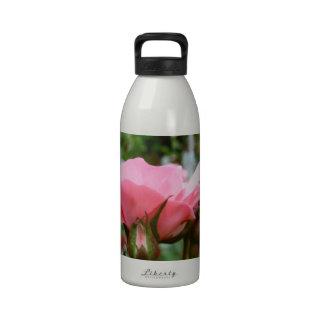 Pink Rose of Love Drinking Bottle