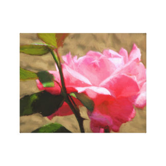 Pink Rose Oil Painting on-Canvas Prints Single