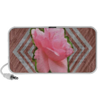 Pink Rose on Lace Portable Speaker