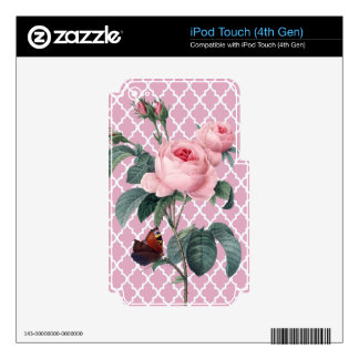 Pink Rose Orient iPod Touch 4G Skin