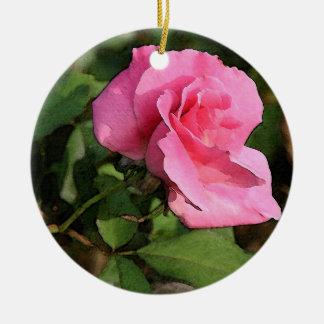 Pink Rose Ornament