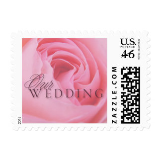 Pink Rose Our Wedding Small Postage