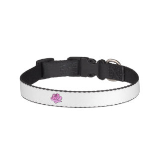 Pink Rose Painted Pink Petals Shades Thick Outline Pet Collar