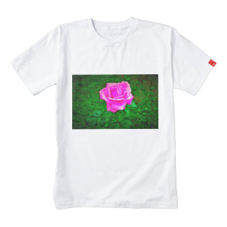 Pink rose painting zazzle HEART T-Shirt