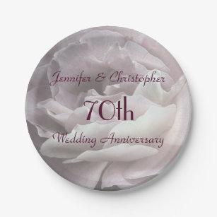 Pink Rose Paper Plates 70th Wedding Anniversary Paper Plate  sc 1 st  Zazzle & 70th Wedding Anniversary Plates | Zazzle