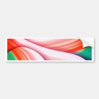 Pink rose pastel colour Beautiful Gradient Digital Bumper Sticker