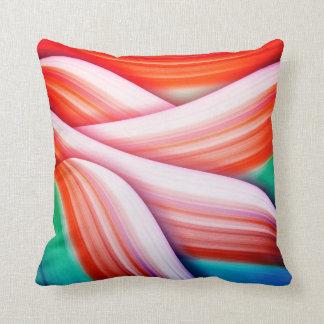 Pink rose pastel colour Beautiful Gradient Digital Throw Pillow