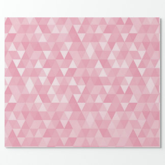 Pink Rose Pastel Silver Geometric Diamonds Shape Wrapping Paper