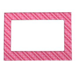 Pink Rose Pattern  Borders Magnetic Picture Frame