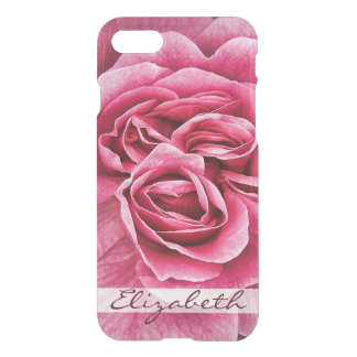 Pink Rose Personalized iPhone 7 Case