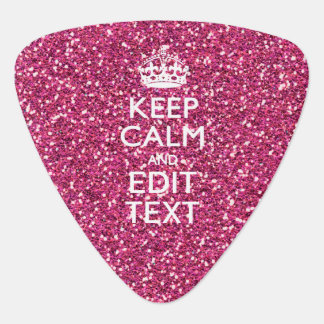 Pink Rose Personalized KEEP CALM AND Your Text Guitar Pick
