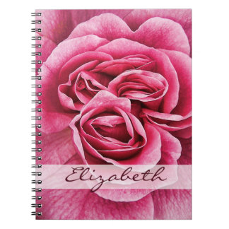 Pink Rose Personalized Notebook