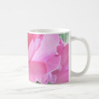 Pink Rose Petal Abstract Coffee Mug