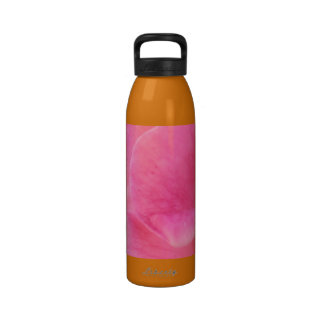 Pink Rose Petal Art  -  Theme Decorations Water Bottle