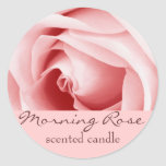 pink rose petals - scented candle or soap label classic round sticker