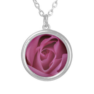 Pink Rose Petals Silver Plated Necklace
