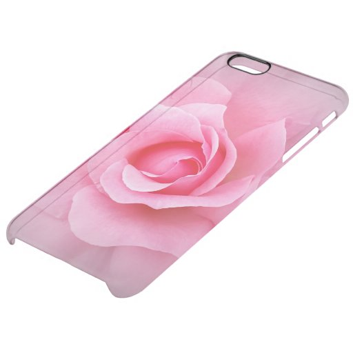 Pink rose petals clear iPhone 6 plus case