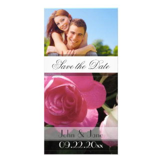 """Pink Rose  /photo  """"Save the Date"""" Photo Cards"""