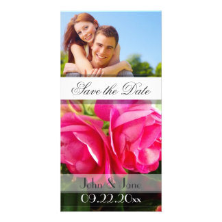 """Pink Rose  /photo  """"Save the Date"""" Photo Greeting Card"""