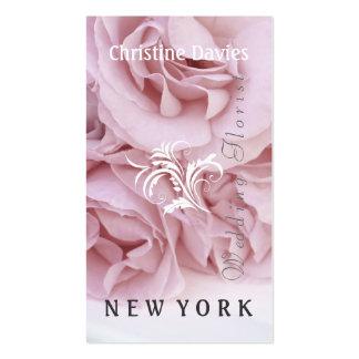Pink rose photograhy, weddin florist business cards