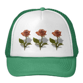 Pink Rose Photograph with Shadow Trucker Hat