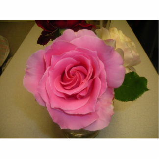 PINK ROSE (PHOTOSCULPTURE) STATUETTE