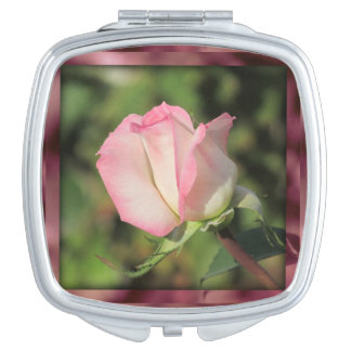 Pink Rose Compact Mirrors