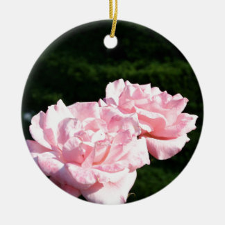 pink rose picture gift ceramic ornament