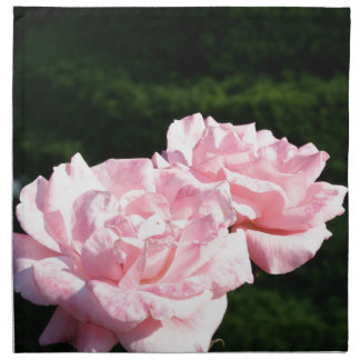 pink rose picture gift napkin