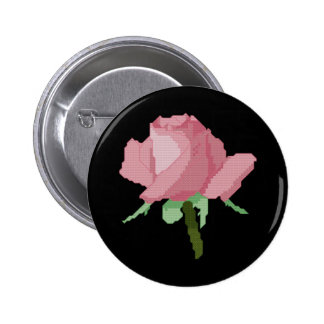 Pink Rose Pinback Button