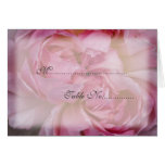 Pink Rose Place Setting Card
