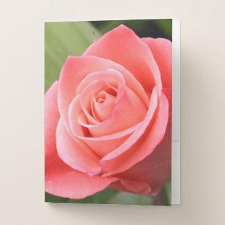 Pink Rose Pocket Folder
