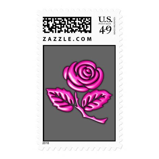 Pink Rose Postage Stamps
