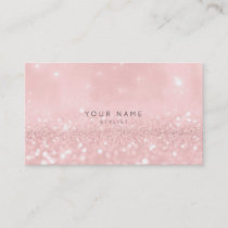 Pink Rose Powder Glitter Sparkly Stylist Vip Appointment Card