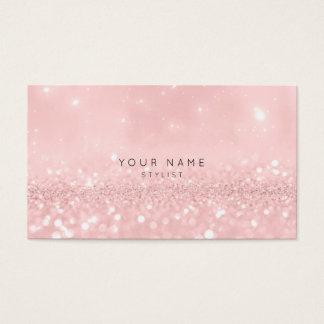 Pink Rose Powder Glitter Sparkly Stylist Vip Business Card