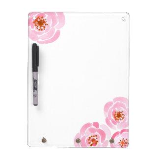 Pink Rose Print Dry-Erase Board