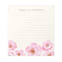 Pink Rose Print Notepad